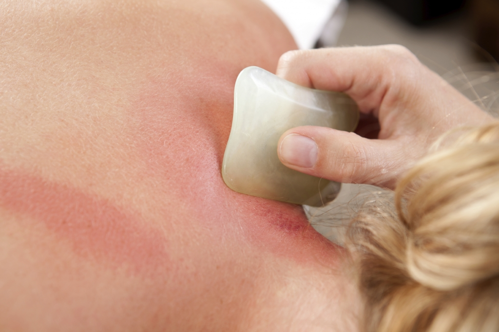 Redness During Gua Sha